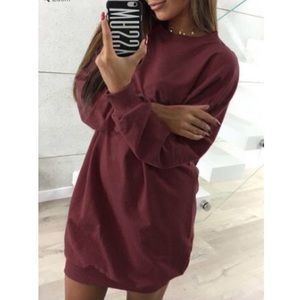 Dresses & Skirts - 🍂Solid O-Neck Long Sleeve🍂